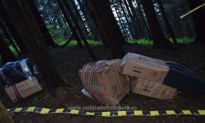 Patru focuri de armă pentru confiscarea unor colete cu țigări de contrabandă în valoare de 450.000 lei, la Straja