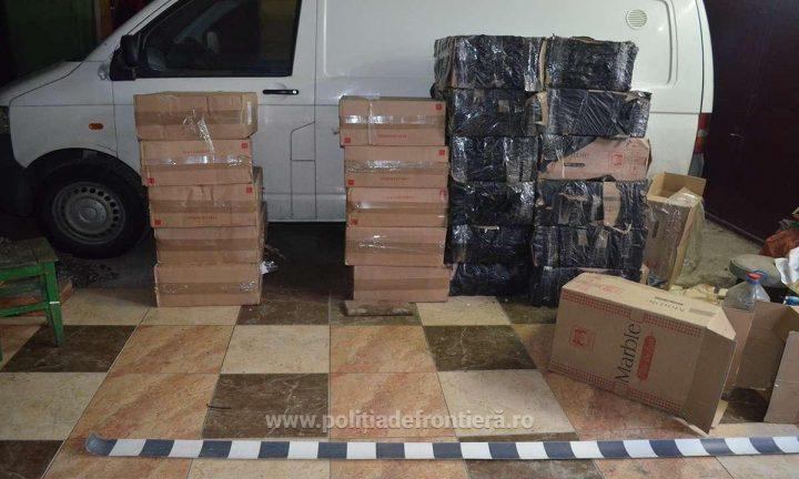 Țigări de contrabandă în valoare de peste 600.000 lei oprite de polițiștii de frontieră suceveni