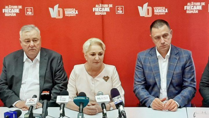 """Dăncilă, optimistă la Suceava: """"Sunt singurul contracandidat al domnului Iohannis care contează"""""""