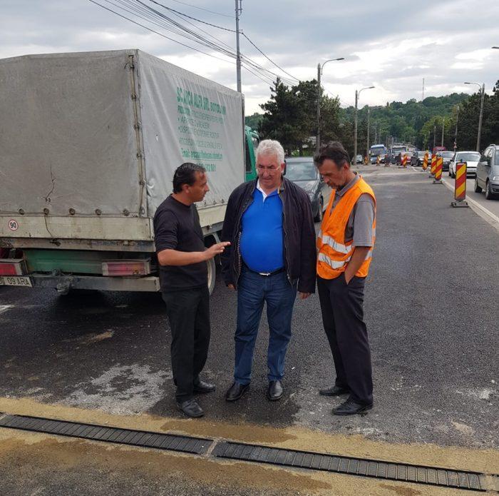 Reîncepe calvarul: podul de la bazarul Suceava va fi închis din nou pe jumătate