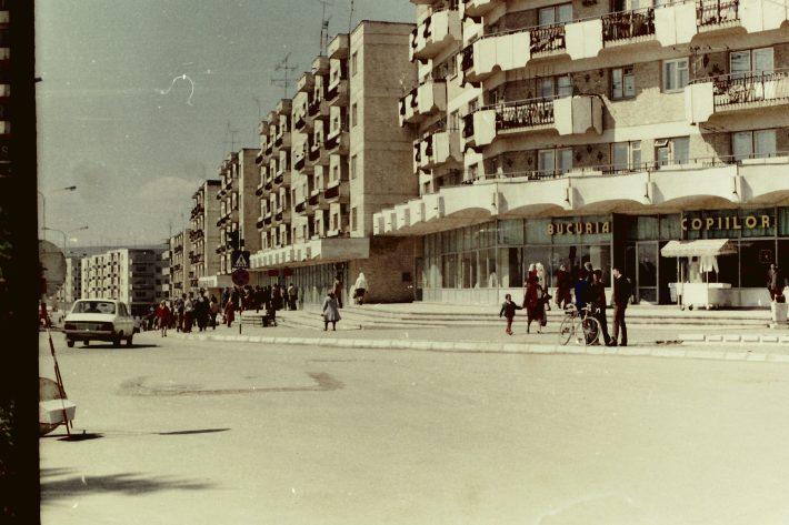 UN ORAȘ, DOUĂ SECOLE (146): Noul centru al Fălticeniului în ultimii ani ai comunismului