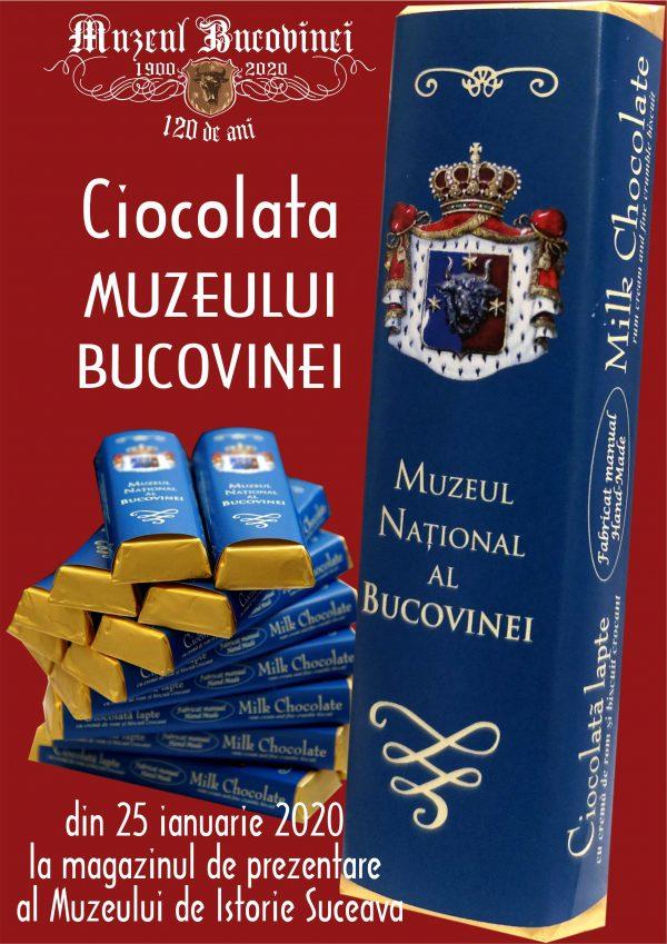 Ciocolata personalizată, un produs al Muzeului Bucovinei din Suceava