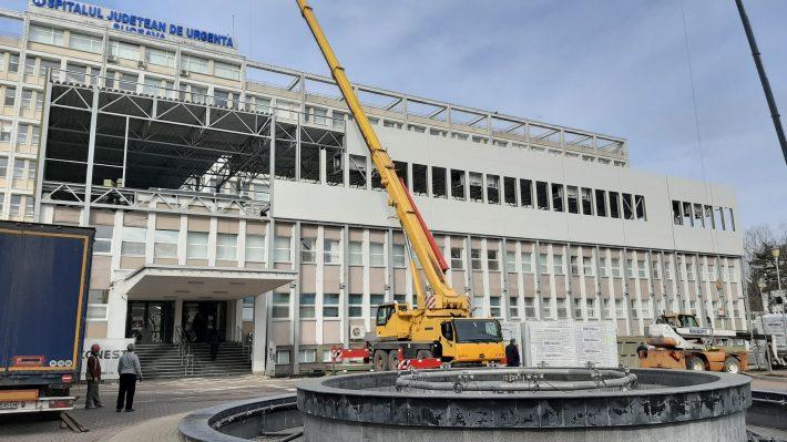 Ritm accelerat al lucrărilor la noul Bloc Operator al Spitalului Județean Suceava