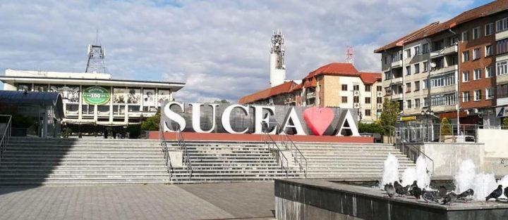 """Din 28 noiembrie, logo luminos """"Ador Suceava"""" în centrul municipiului reședință"""