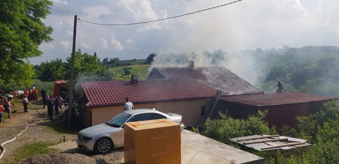 Jocul copiilor cu focul a generat un incendiu la Bunești