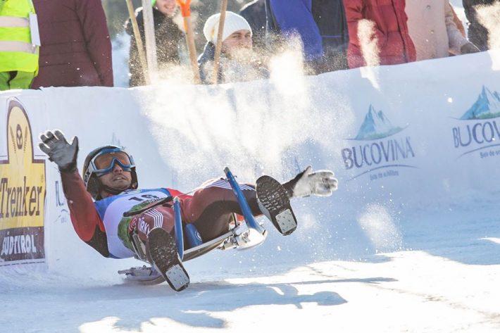 ItalieniiAlex Gruber șiGreta Pinggera, câștigători ai Cupei Mondiale la sanie de la Vatra Dornei