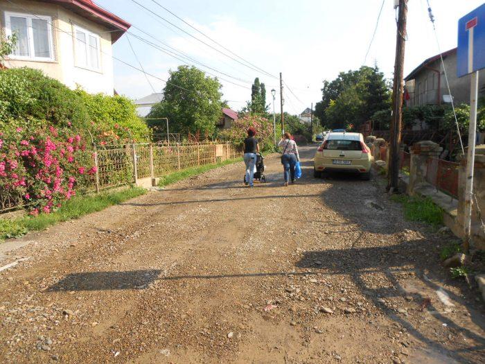 FOTO / Lucrări întârziate pe strada Bogdan Vodă din Suceava
