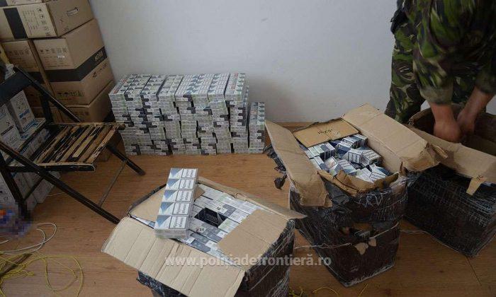 Țigări de contrabandă de aproape 250.000 lei abandonate în apropierea frontierei cu Ucraina