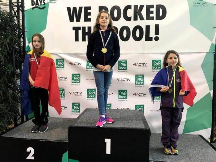 Înotătoarea Daria Alexa din Fălticeni, 4 medalii la concursul de la Dortmund