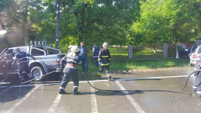 FOTO Cinci răniți într-un accident rutier la Frasin