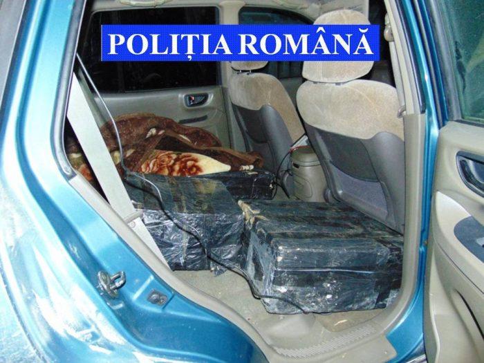 Țigări ucrainene depistate de polițiști în autoturismul unui nemțean, la Dărmănești