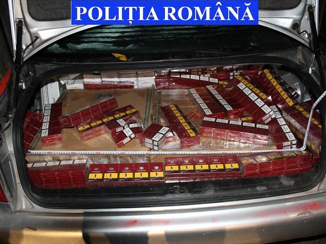 Focuri de armă și 7.000 pachete de țigări de contrabandă reținute, la Lupcina