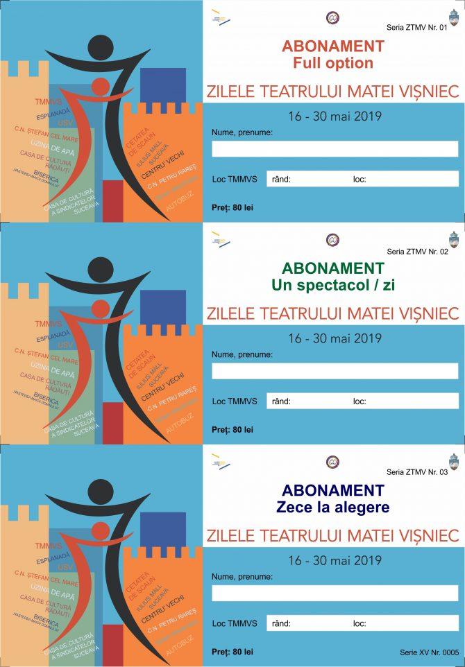 Trei categorii de abonamente la Zilele Teatrului Matei Vișniec Suceava
