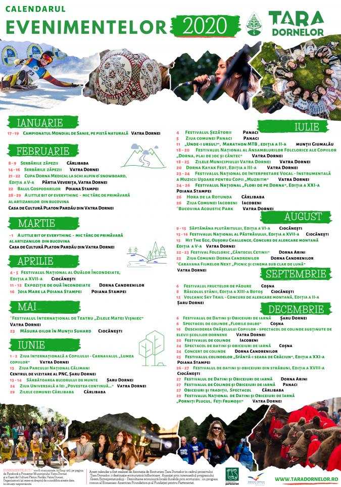 Peste 45 de evenimentesportive, artistice și culturale organizate în acest an deAsociația de Ecoturism Țara Dornelor