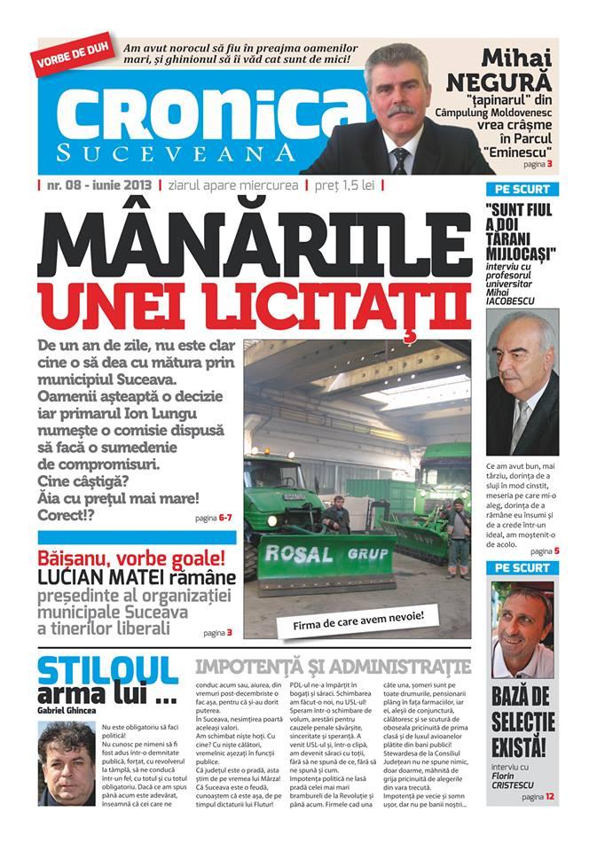 Cronica Suceveana 04.06.2013- prima pagina