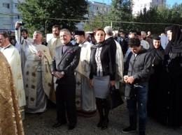 STELIANA MIRON și GIGI BECALI la sfințirea catedralei din Suceava, octombrie 2015