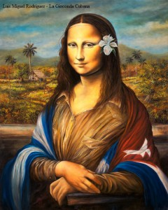 La Gioconda Cubana  Oil on Canvas 30x24