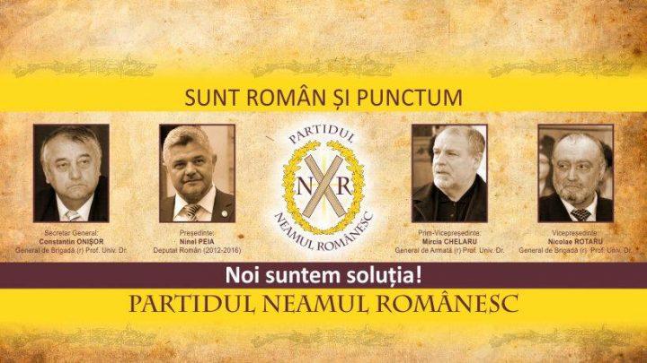 """Partidul Neamul Românesc: """"Numai nişte nostalgici fără profunzimea cugetării mai pot crede că în drumul nostru euro-atlantic mai poate fi vorba de vreo întoarcere a armelor"""""""