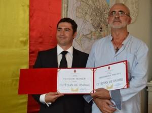 Teodor Ilicai si Gheorghe Balint cetateni de onoare Falticeni 05.09 (1) - Copie