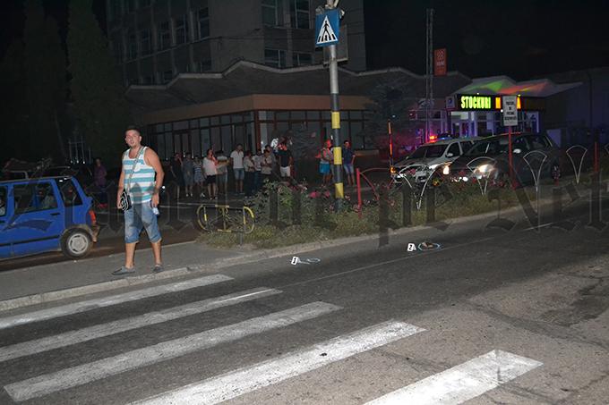 Accident rutier în zona trecerii de pietoni de la Colegiul Național Nicu Gane Fălticeni (FOTO)