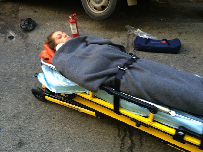 Femeie rănită după o coliziune în trafic la Gura Humorului