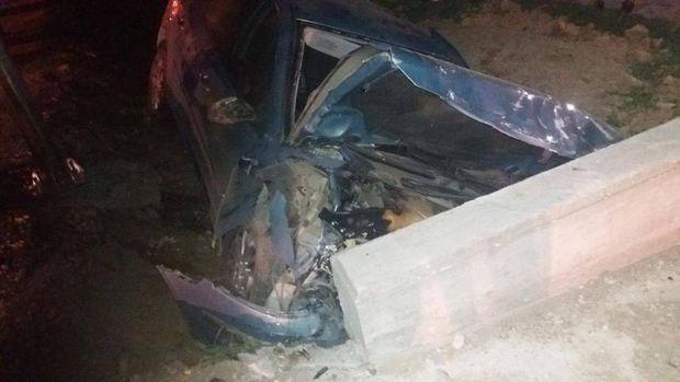 Tamponare și impact cu un cap de pod, la Liteni