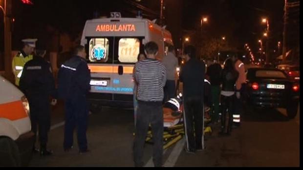 Pieton lovit de o mașină în parcarea centrală din Gura Humorului