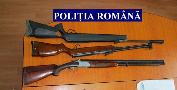 Trei arme indisponibilizate de polițiștii suceveni