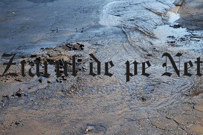 Rețeaua de apă de pe strada Sucevei din Fălticeni, treabă de mântuială.Luni se va sista furnizarea pe 15 străzi