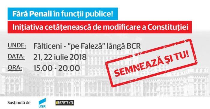 Campania FĂRĂ PENALI ÎN FUNCȚII PUBLICE! ajunge astăzi la Fălticeni
