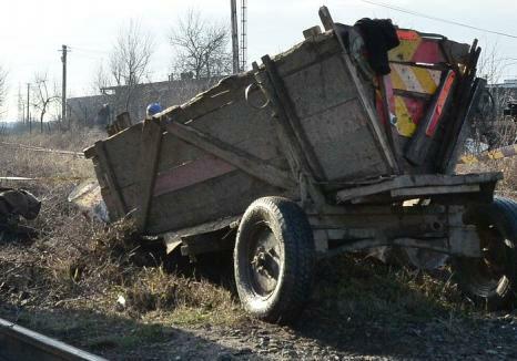 Căruță nesemnalizată izbită de un autoturism, la Vicovu de Jos:căruțașul a fost rănit ușor