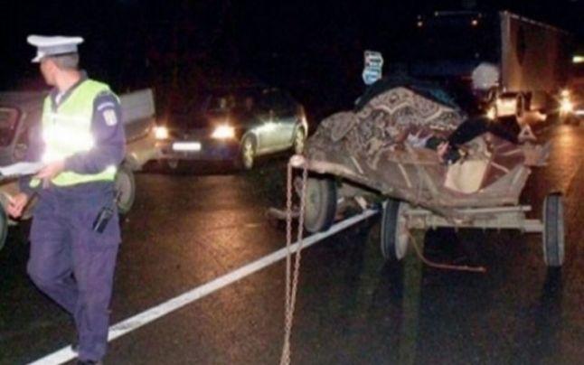 Căruțaș decedat la Baia după ce mașina unui fălticenean a lovit atelajul nesemnalizat. Victima a fost proiectată în afara carosabilului