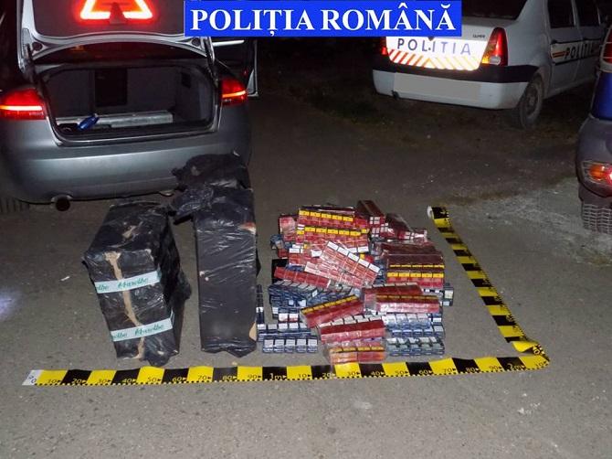 Bucureșteni prinși cu tigări de contrabandă la Dornești