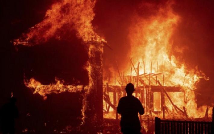 Incendiu într-o gospodărie din Cajvana