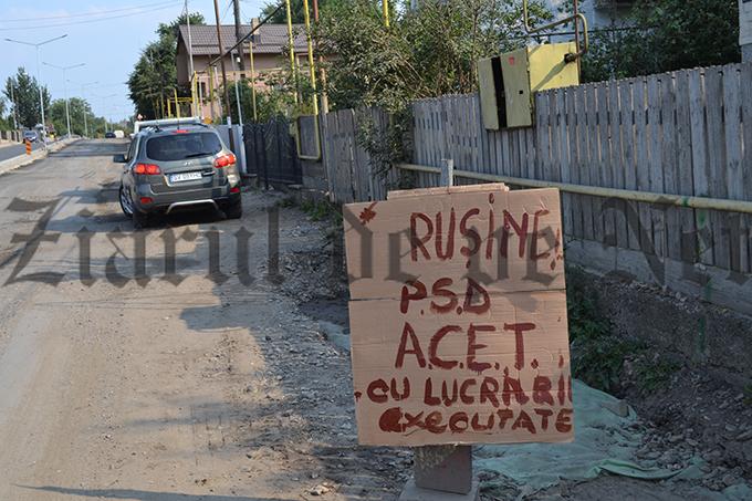 pancarda anti PSD pe strada Sucevei vizita Iohannis 07.07.15