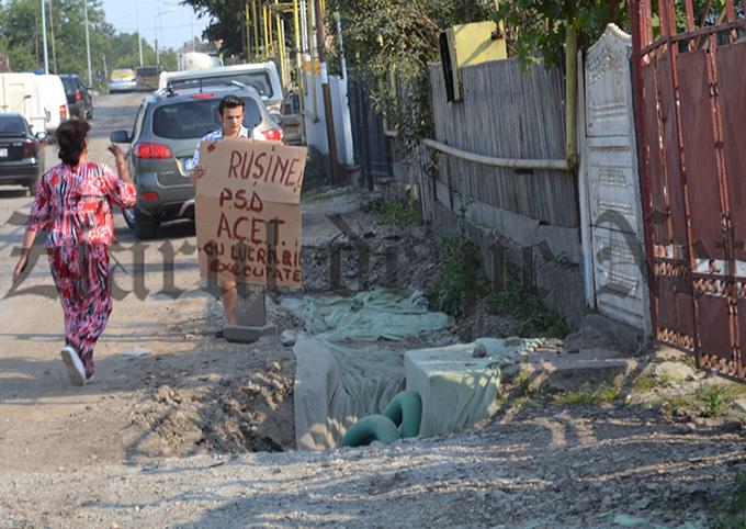 pancarda anti PSD pe strada Sucevei vizita Iohannis 07.07.15(3)