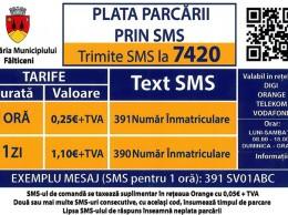plata parcarii prin sms in falticeni