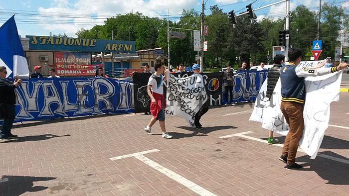 protest suporteri Rapid Suceava 09.05