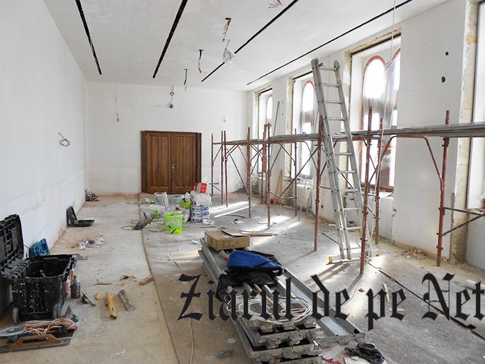 Sala de ședințe a Consiliului Județean Suceava, în șantier