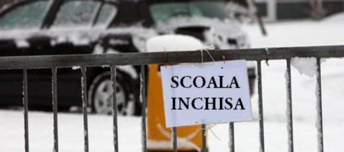 """Școlile vor fi închise vineri! Ministerul Sănătății: """"Timp de 4 zile copiii vor putea evita expunerea in colectivități"""""""