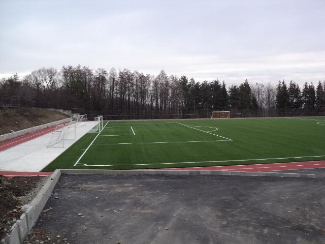 Terenul de fotbal al Liceului cu Program Sportiv Suceava FOTO: Ziarul de pe Net