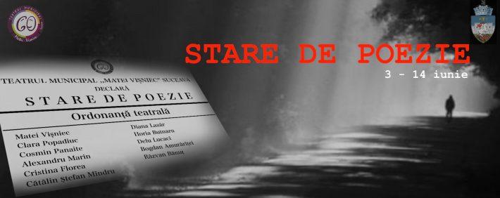 """""""Stare de poezie"""", un nouproiect virtual al Teatrului Matei Vișniec Suceava"""