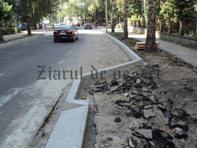 Strada Mărășești din Suceava este reconfigurată