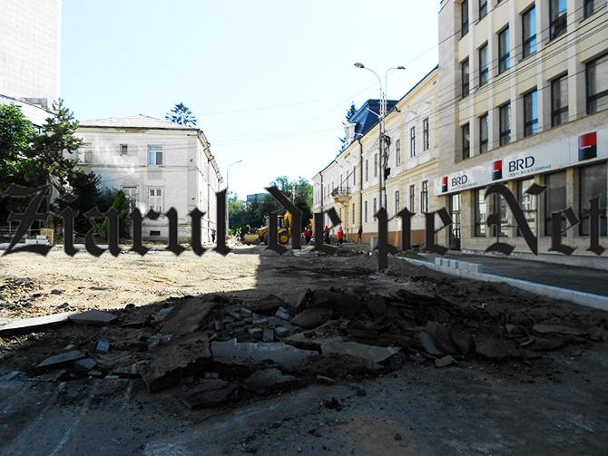 Strada Ștefan cel Mare din Suceava trebuie predată până la sfârșitul lunii