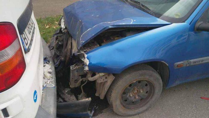 Tamponare cu doi răniți în municipiul Suceava