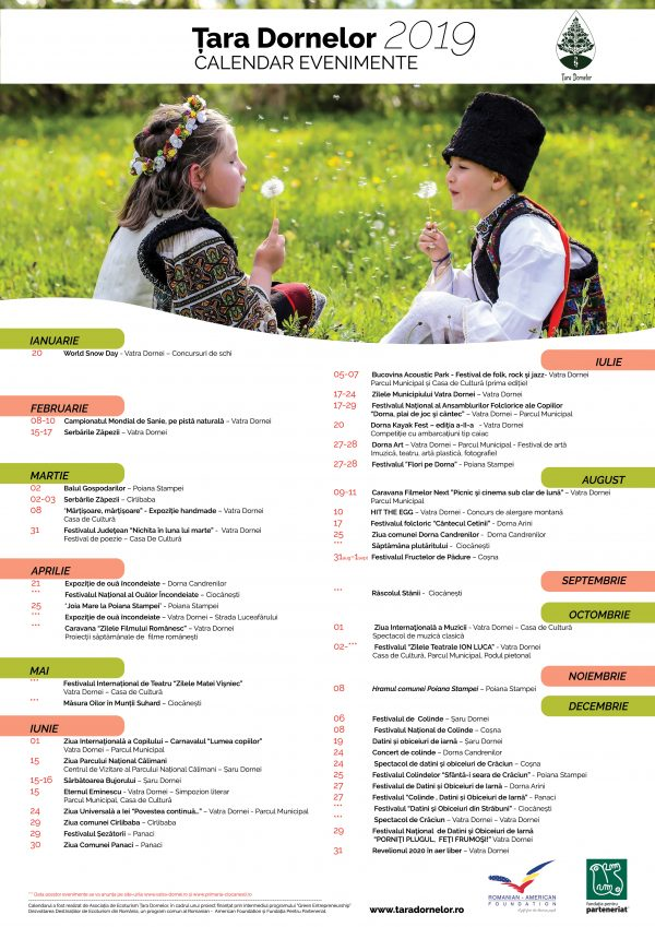 10 localități din zona Vatra Dornei organizează în comun evenimente sportive, artistice și culturale